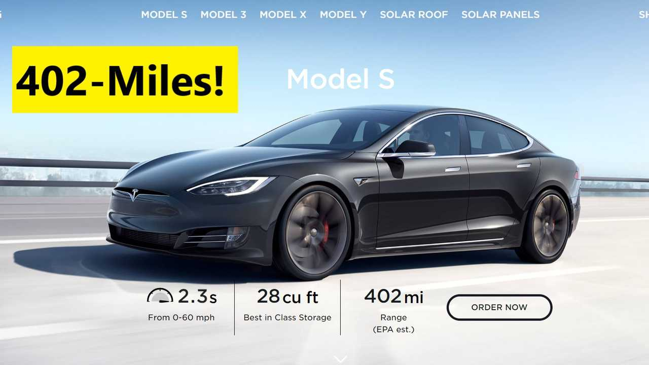 Model S 402 mile range