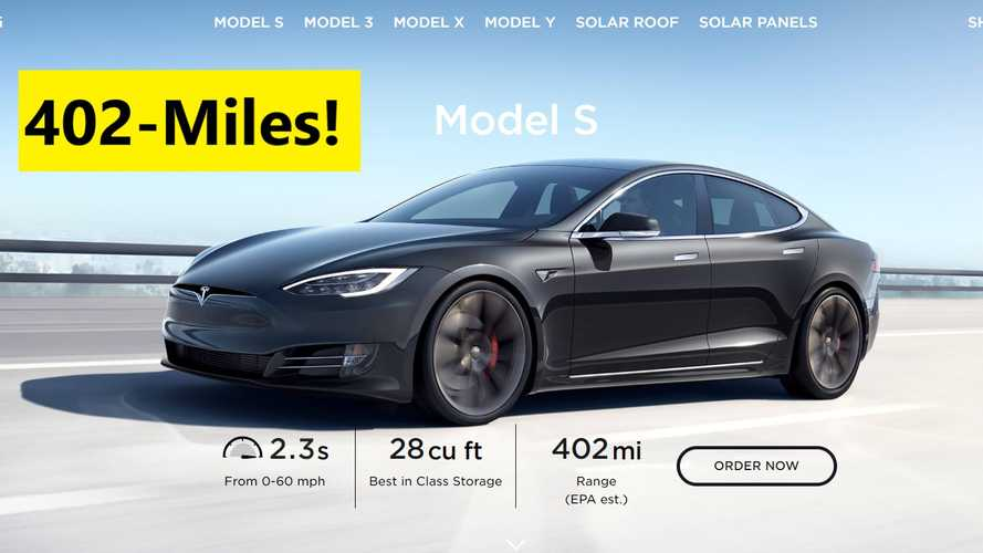 Tesla Model S Becomes World's First 400-Plus-Mile Electric Car
