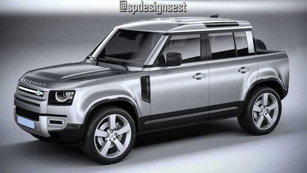 Land Rover Defender 110 pickup render