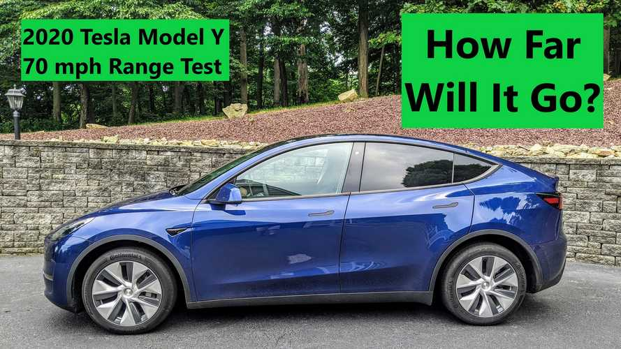 Tesla Model Y 70 MPH Highway Range Test: How Far Did It Go?