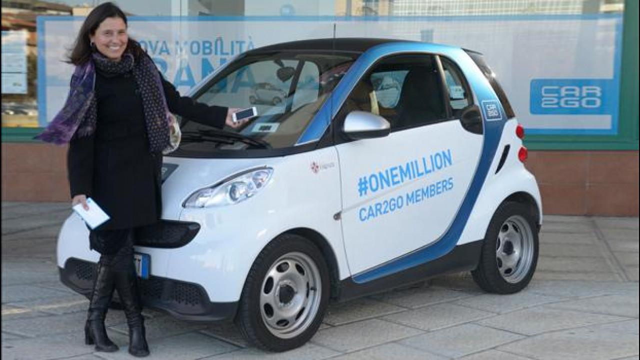 [Copertina] - Car sharing, car2go festeggia il milionesimo cliente