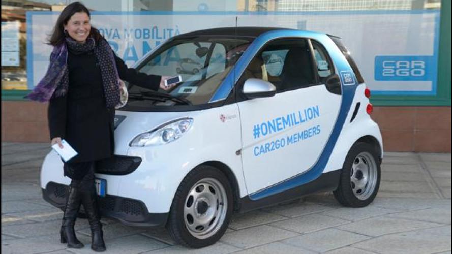 Car sharing, car2go festeggia il milionesimo cliente