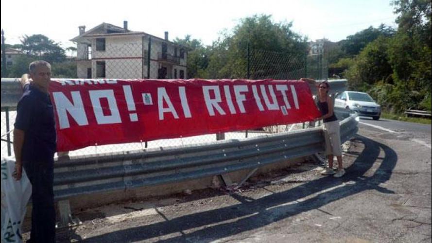 Roma, discarica a Pian dell'Olmo: per la protesta è blocco del traffico
