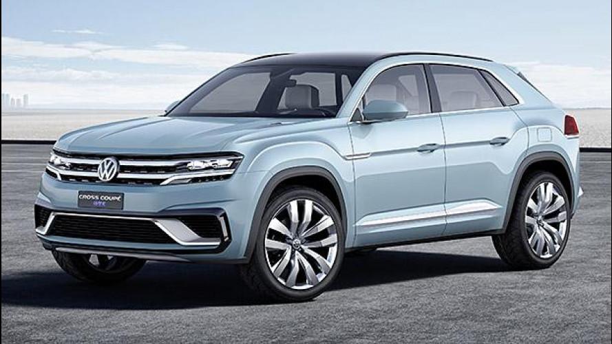 Volkswagen Cross Coupé GTE, prove di SUV americano