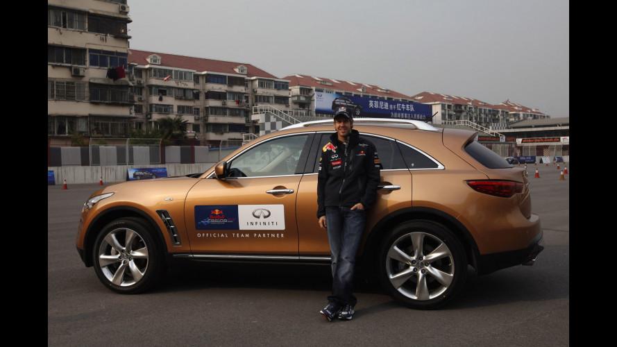 Sebastian Vettel al GP di Cina sulle... Infiniti