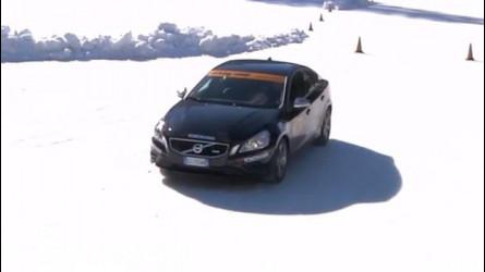 Guida sulla neve, cosa succede se si frena senza gomme invernali [VIDEO]