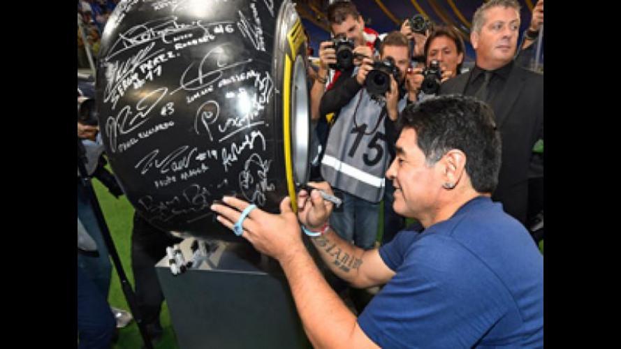 Maradona come Niki Lauda e Fernando Alonso grazie a Pirelli