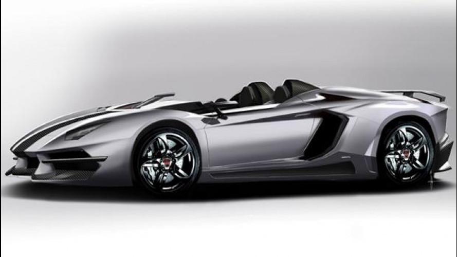 """Lamborghini Aventador J, il tuning """"teorico"""" di Prindiville"""