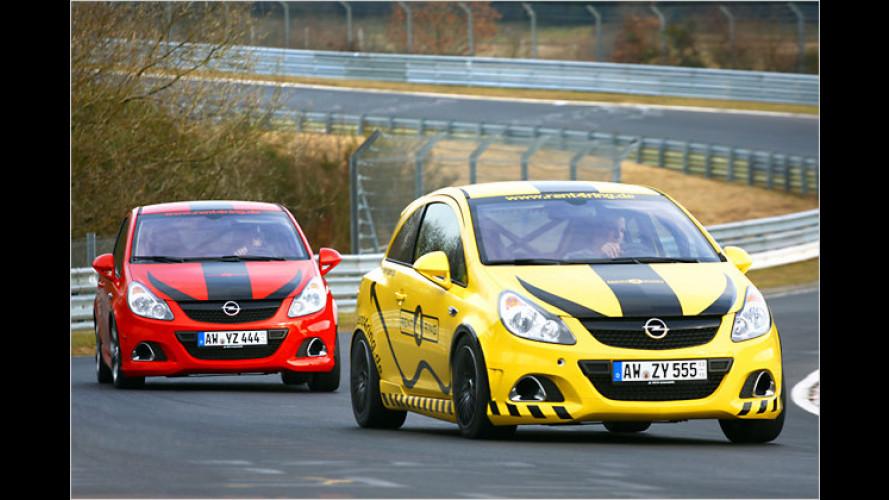 Mit dem Opel Corsa OPC in der