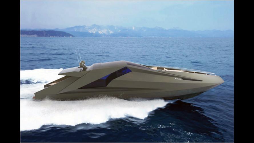 Wasser-Kante: Lamborghini-Yacht