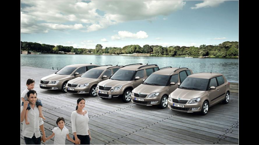 Geld sparen mit Skodas Family-Sondermodellen