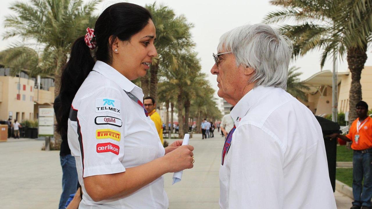 Monisha Kaltenborn with Bernie Ecclestone 21.04.2012 Bahrain Grand Prix