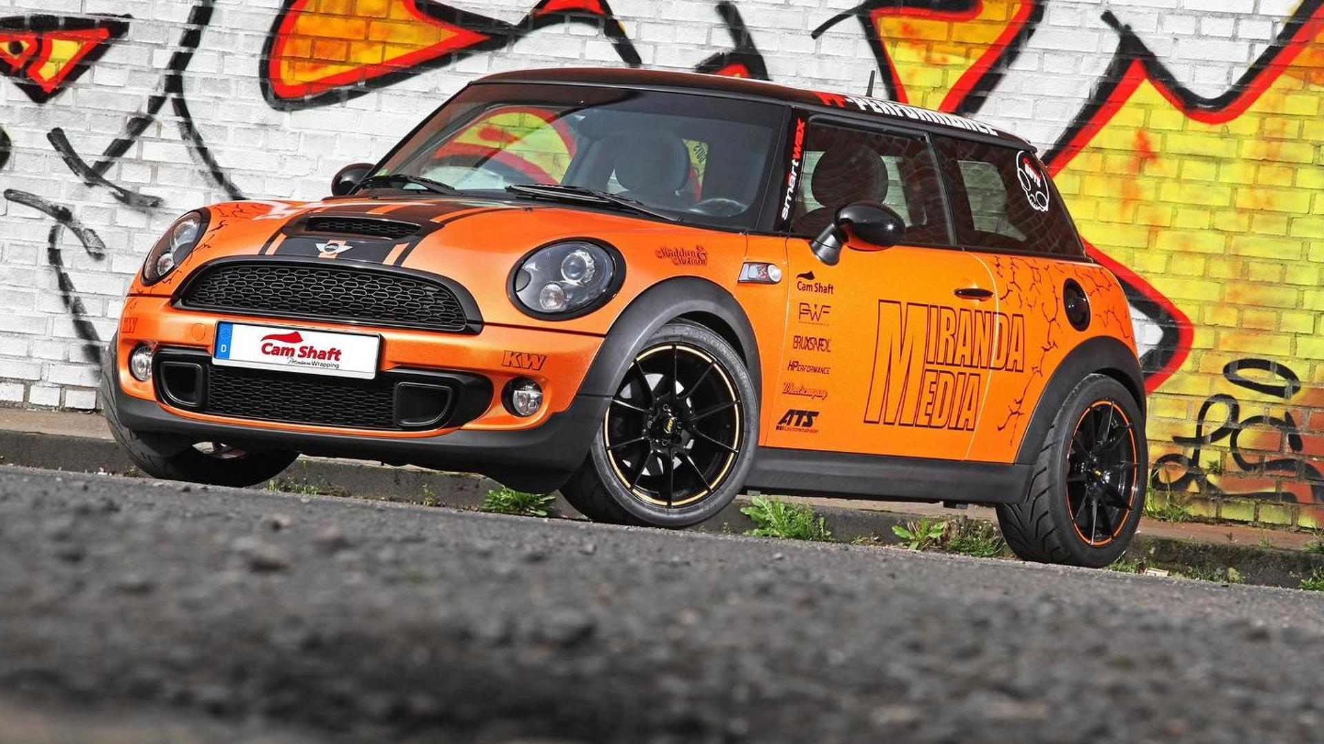 Mini Cooper S Receives Shiny Orange Wrap And 240 Ps From Cam Shaft