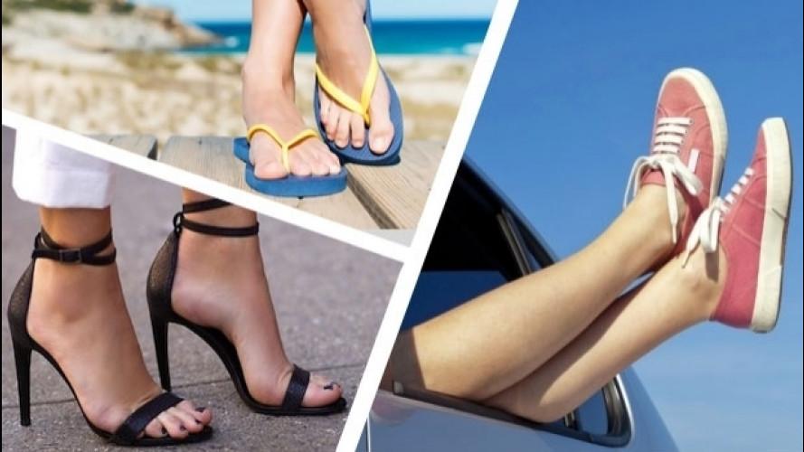 [Copertina] - Guidare d'estate, le calzature anti-multa