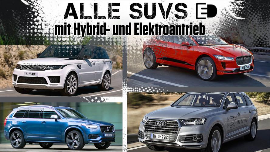 SUVs mit Hybrid- und Elektroantrieb