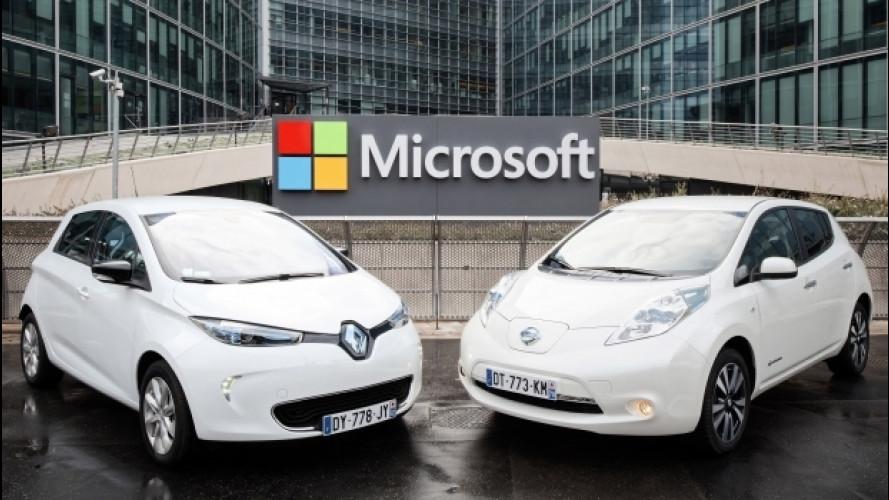 Renault-Nissan, auto connesse con Microsoft