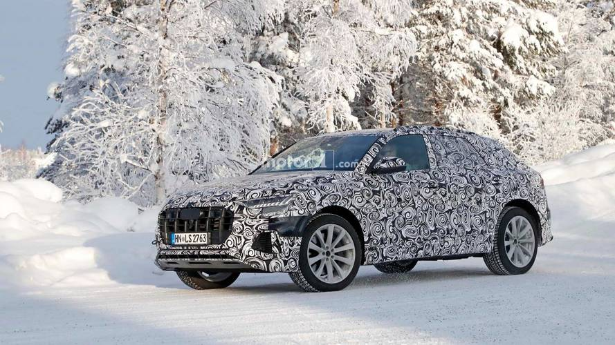 Snowbound Audi SQ8 Spied Showing Quad Exhaust Tips