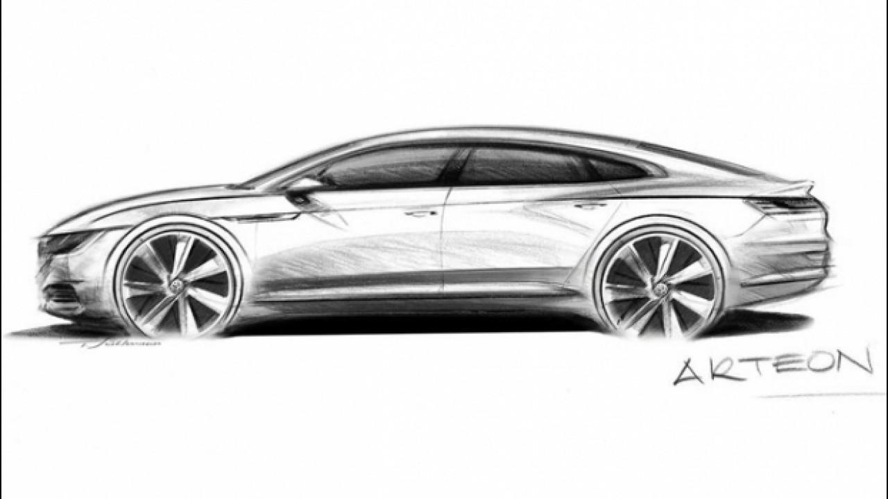 [Copertina] - Volkswagen Arteon, il teaser della coupé a quattro porte [VIDEO]