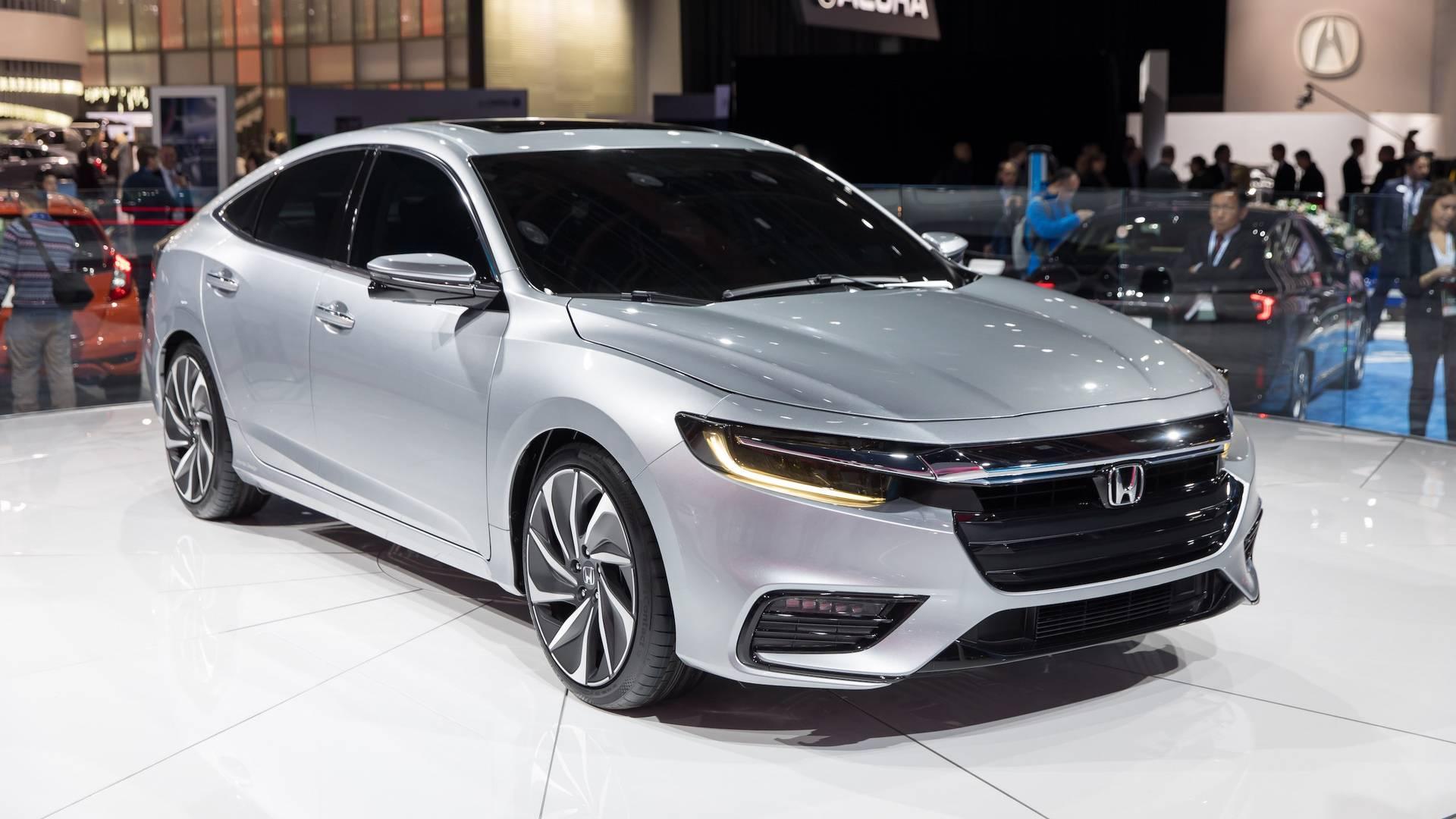 Honda Insight Prototype Closely Previews New Hybrid Sedan - Honda car show