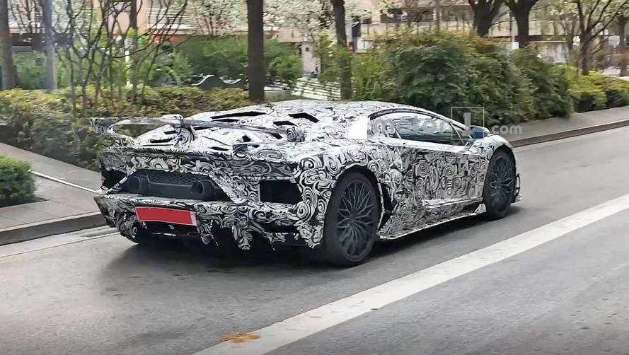 Lamborghini Aventador SVJ Spied With Big Exhaust, Bigger Wing