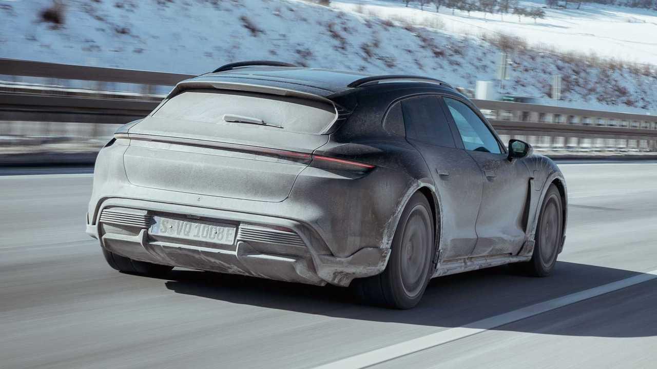 Porsche zeigt neue Teaserbilder vom Taycan Cross Turismo