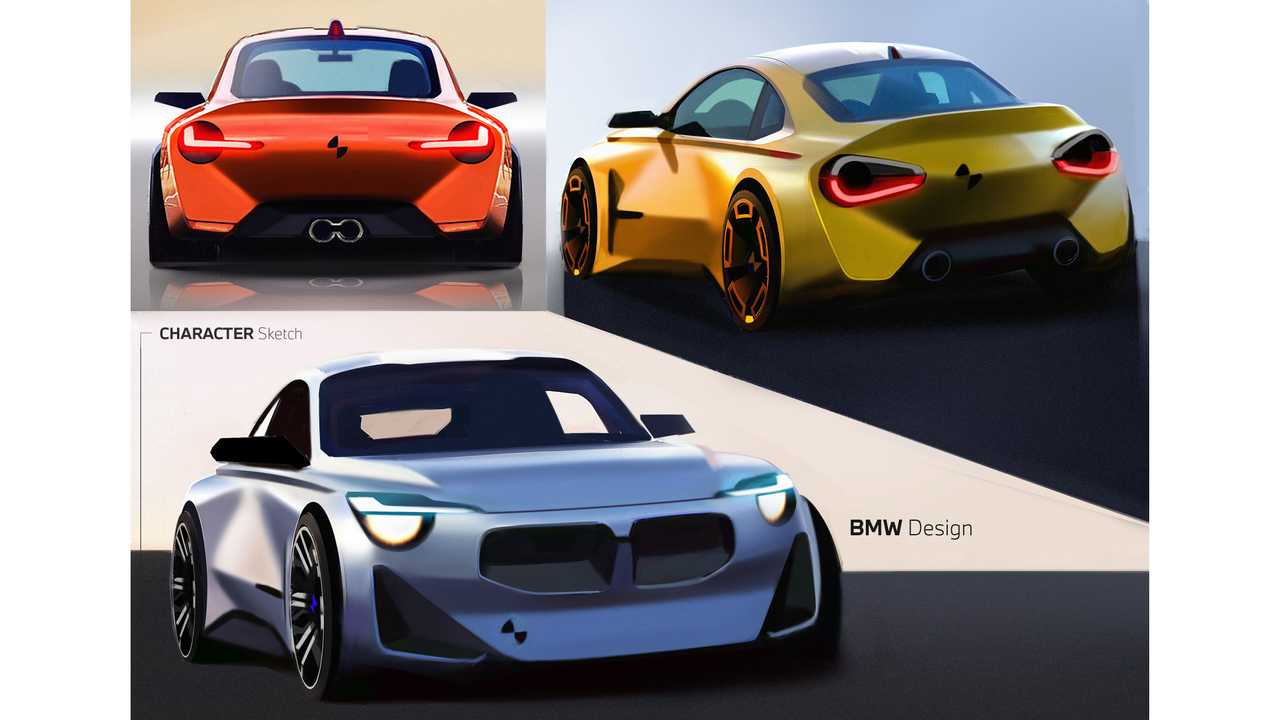 2022 BMW 2 Series Coupe design sketch