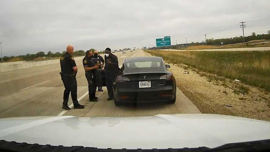 Tesla owner caught sleeping behind the wheel on Autopilot
