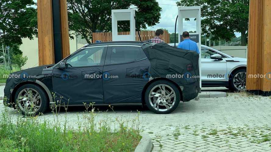 Motor1.com reader spies Genesis GV60 charging up with Skoda Enyaq