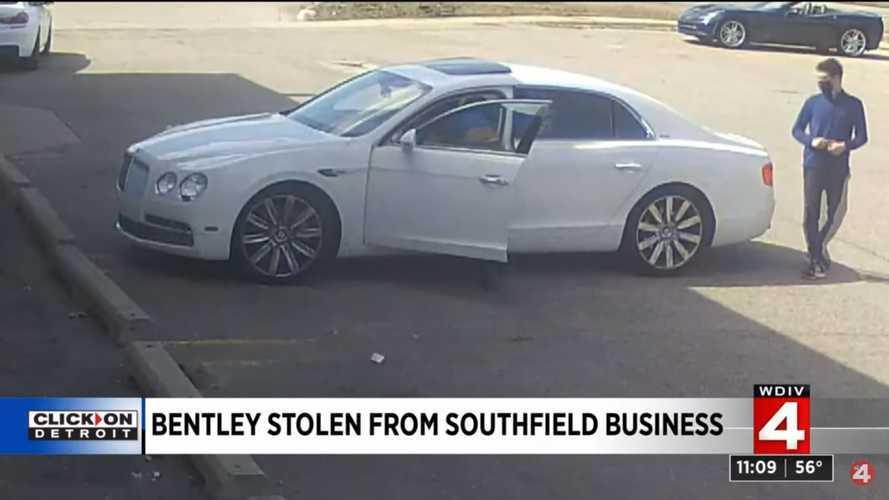 Este es el robo de un Bentley más ridículo jamás visto