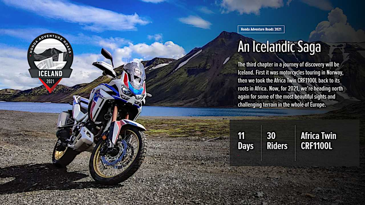 Honda Adventure Roads Iceland Postponed Until 2022