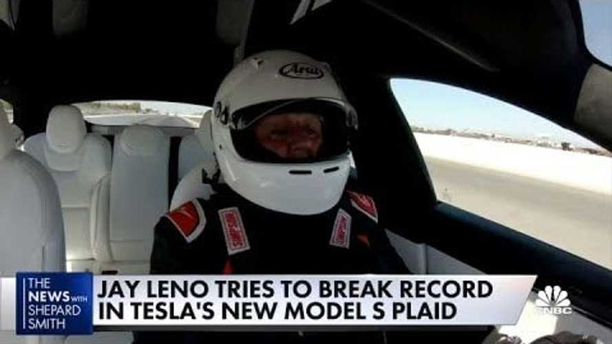 Jay Leno Bought A Tesla Model S Plaid & He's Showing It Off