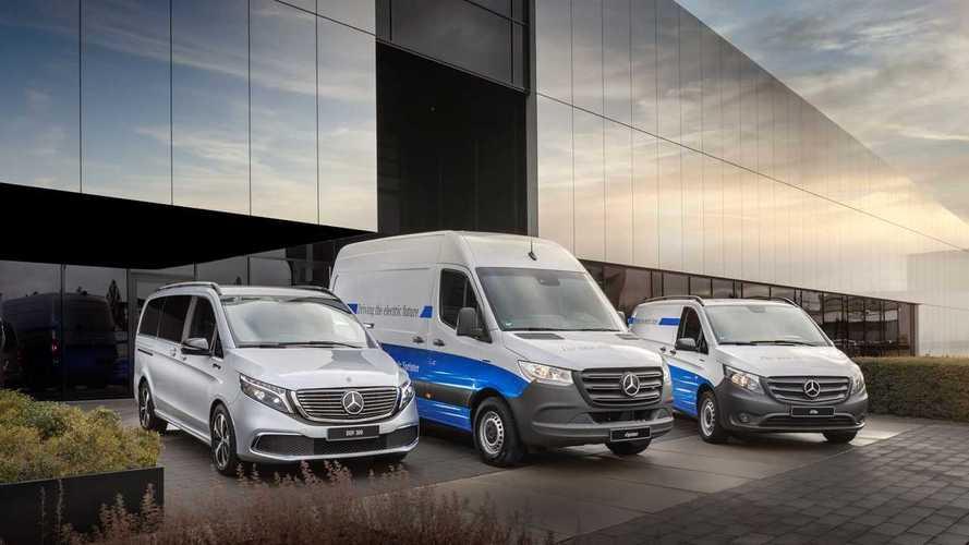 Mercedes, nuovi van tutti elettrici dal 2025