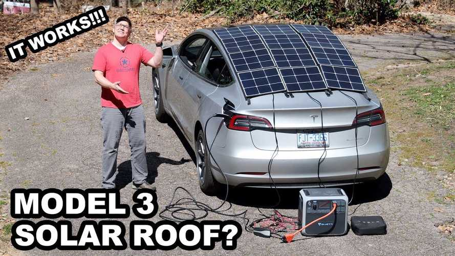 This Guy Adds A Solar Roof To His Tesla Model 3, And It Works