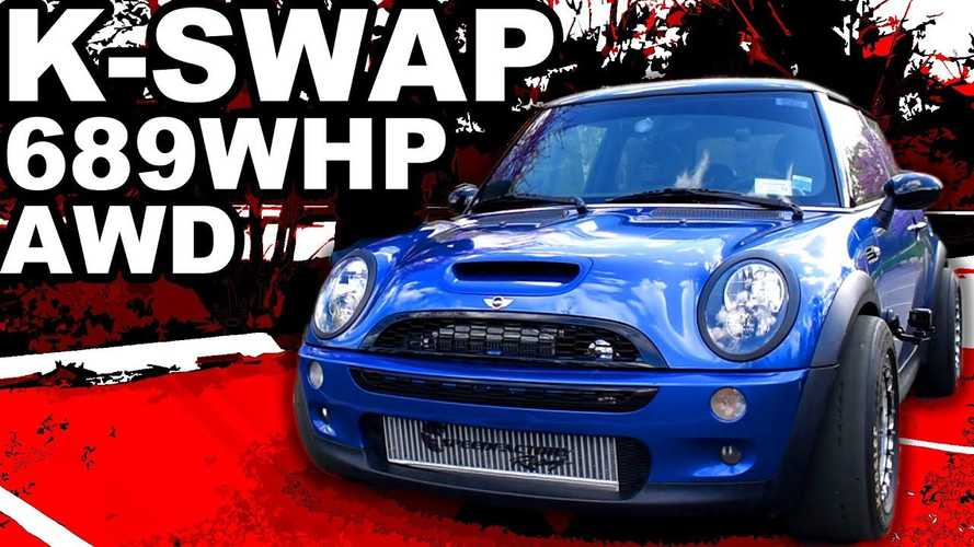 689-bhp Mini with Honda engine and CR-V AWD loses third gear