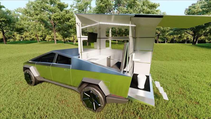 CyberLandr - Quand le Tesla Cybertruck se tranforme en camping-car