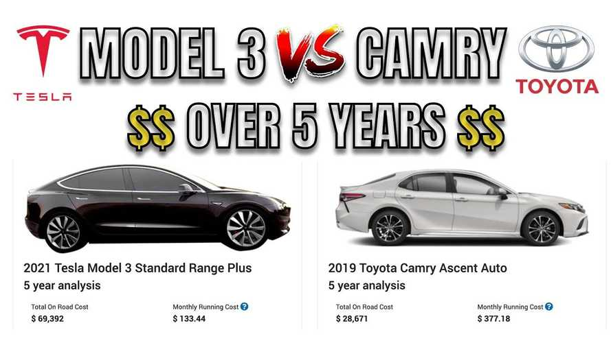 Tesla Model 3 Vs Toyota Camry: 5-Year Cost Of Ownership Compared