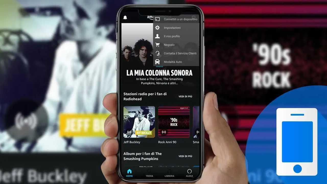 modalità auto dell'app amazon music
