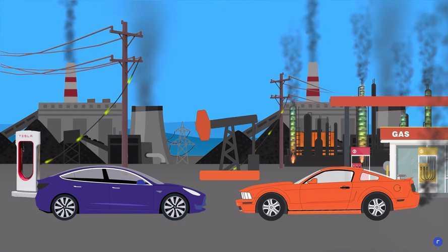 Электромобили и машины с ДВС одинаково вредны? Это видео вас переубедит