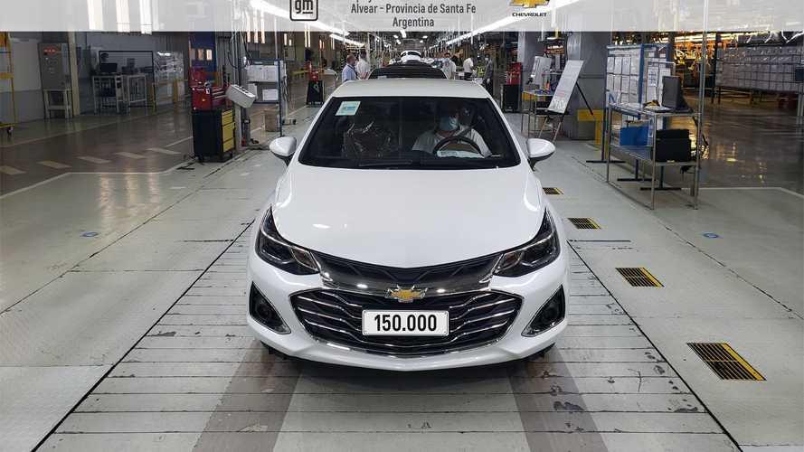 Chevrolet celebra 150.000 Cruze produzidos na Argentina