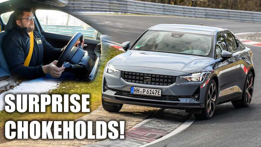 Driver Gets Repeatedly Choked By Polestar 2 Seatbelt During Nurburgring Drive