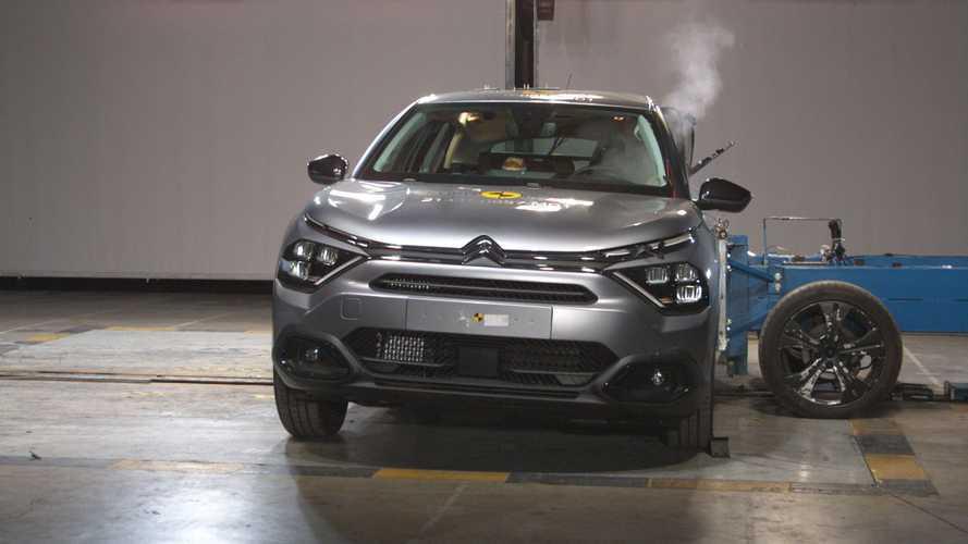 La Citroën C4 obtient quatre étoiles au crash-test Euro NCAP