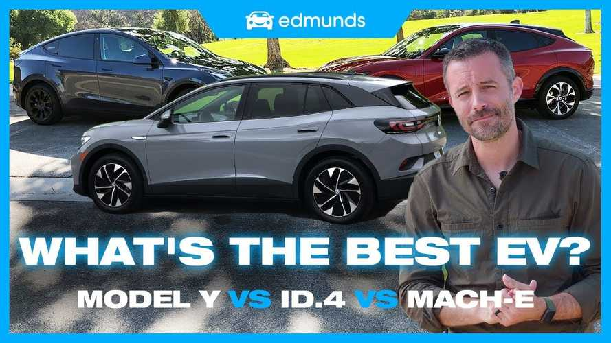 Edmunds Compares Tesla Model Y, Ford Mustang Mach-E, & VW ID.4