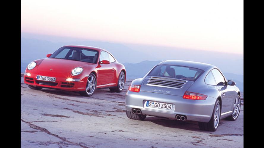 Mit aufgeblasenen Backen: Porsche 911 Carrera 4 und 4S