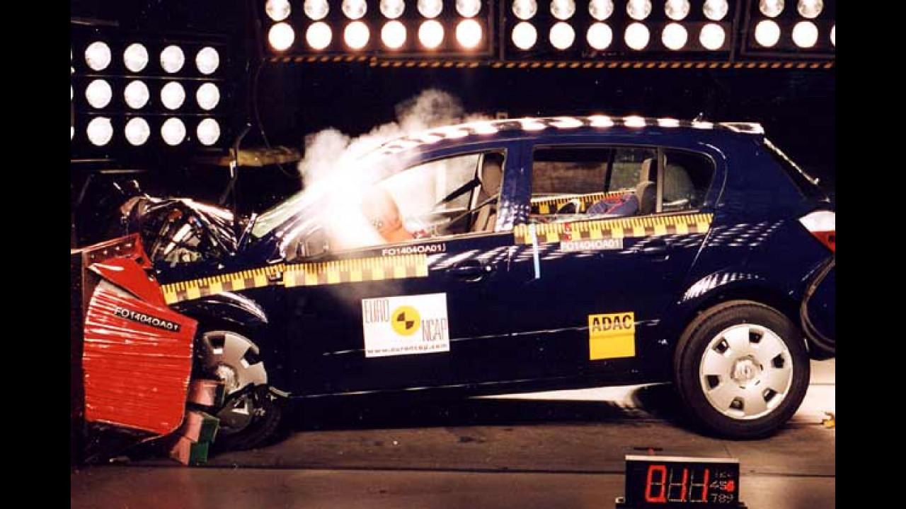 Astra und Golf im Crash
