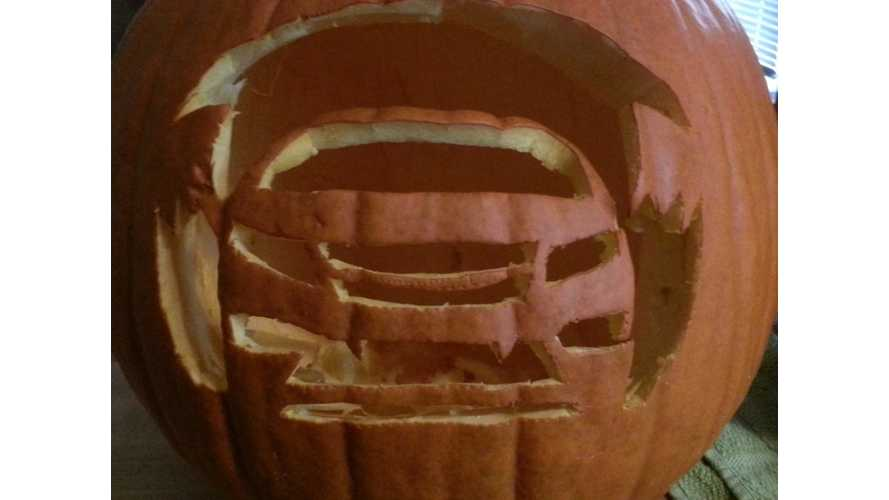 Chevrolet Volt Pumpkin!  Along With Printable Stencil To Make Your Own At Home!