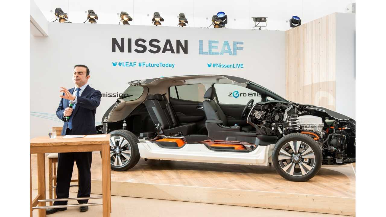 - In Europe Nissan's EV already accounts for almost 2% of Nissan's total sales