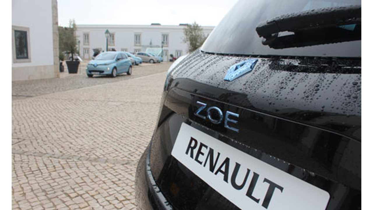 Half-Year Plug-In Sales For Europe - Renault Zoe Takes Lead From The Nissan LEAF