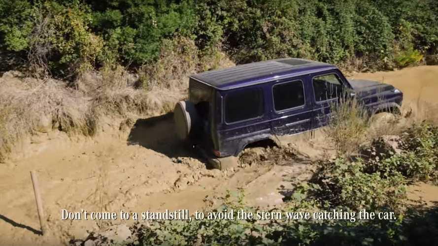 Mercedes, yeni G-Serisi'ni sudan geçirmenin yöntemlerini anlatıyor