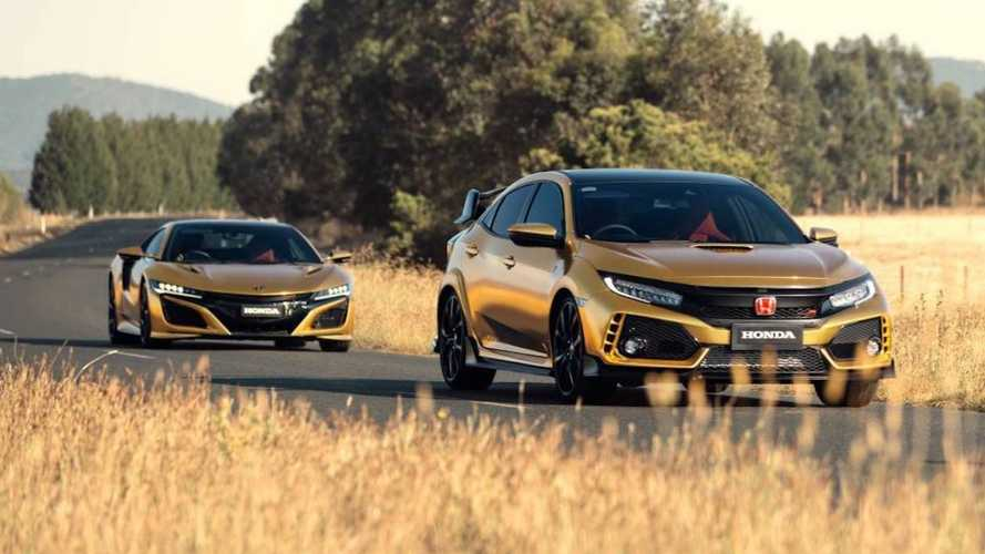 Honda Civic Type R, NSX turn gold for Australian anniversary