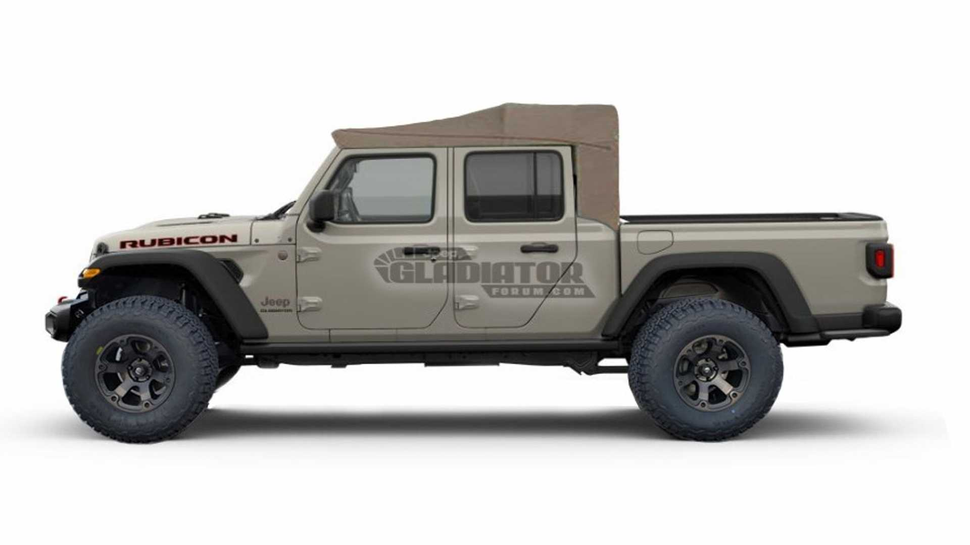 Jeep With Truck Bed >> 2020 Jeep Gladiator Rendered With All Sorts Of Bed Toppers